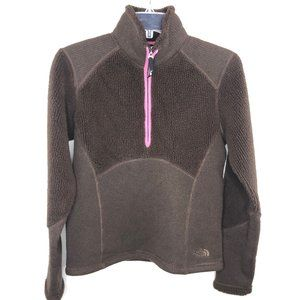 The North Face Brown 1/2 Zip Pullover  - S
